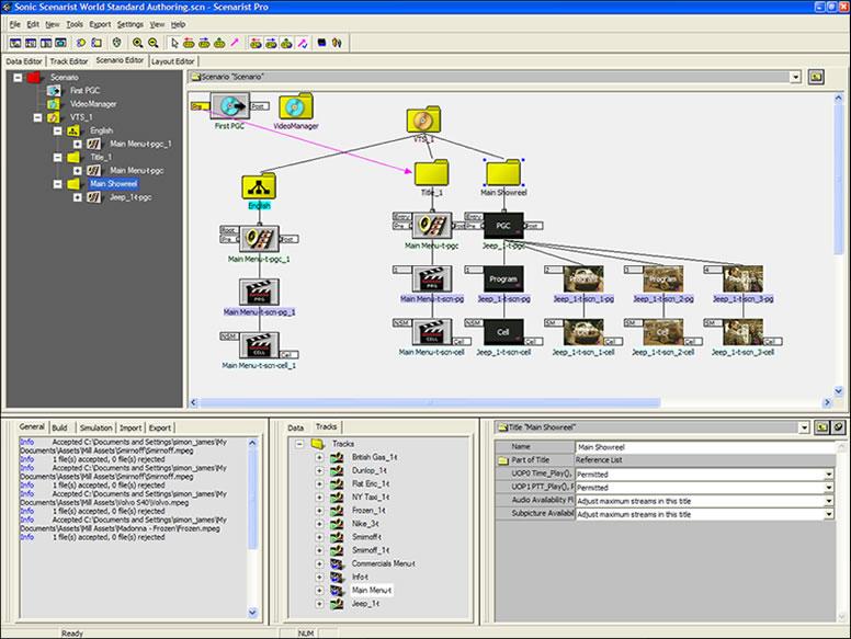 Scenarist DVD Authoring Software